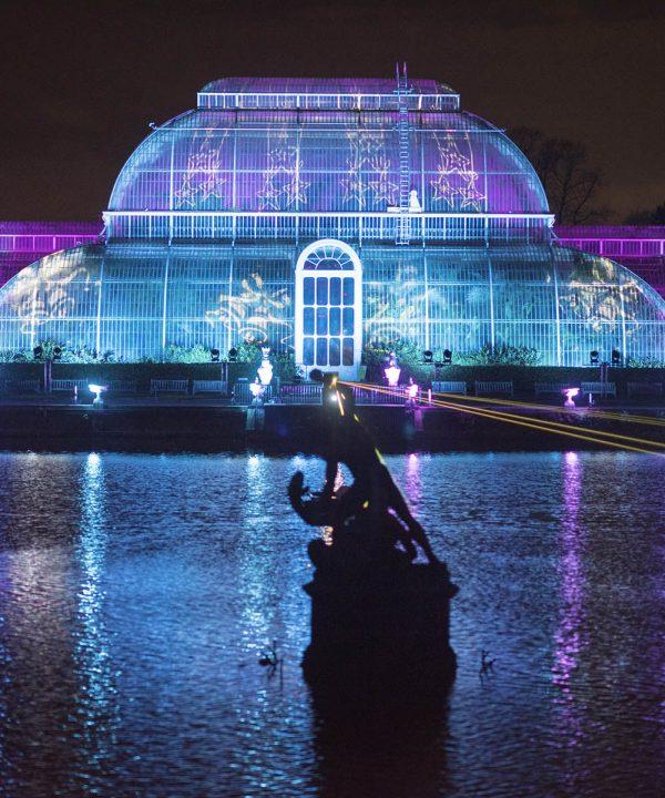 Evening trip, Kew Christmas lights